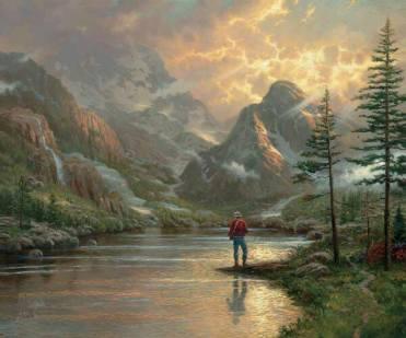 a guy fishing