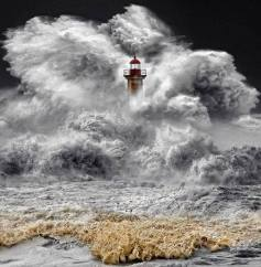 STORM AROUND A LIGHT HOUSE