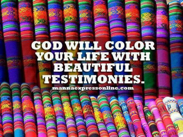 Testimonies lovely